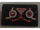 Part No: 85984pb163  Name: Slope 30 1 x 2 x 2/3 with 2 Dark Red and White Gauges and Control Stick Pattern (Sticker) - Set 70164