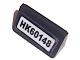 Part No: 85984pb185  Name: Slope 30 1 x 2 x 2/3 with Black 'HK60148' License Plate Pattern (Sticker) - Set 60148