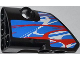 Part No: 87080pb005  Name: Technic, Panel Fairing # 1 Small Smooth Short, Side A with Red and White Swirls on Blue Pattern (Sticker) - Set 42010