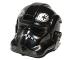 Part No: 87556pb02  Name: Minifigure, Headgear Helmet SW Stormtrooper Type 2, TIE Defender Pilot Pattern