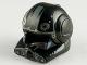 Part No: 87557pb04  Name: Minifigure, Headgear Helmet SW Clone Pilot with Open Visor and Sand Blue and Medium Blue Markings Pattern