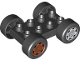 Part No: 88760c01pb03  Name: Duplo Car Base 2 x 4 with Black Tires and Dark Orange Sport and Light Bluish Gray Sport Wheels Pattern (88760 / 88762c01pb03 / 88762c01pb04)