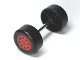 Part No: 88762c01pb01  Name: Duplo Wheel Double Assembly with Metal Axle and Red Rally Pattern