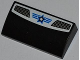 Part No: 88930pb012  Name: Slope, Curved 2 x 4 x 2/3 No Studs with Bottom Tubes with Double Vent Grille, Blue Lines and White Star with Blue Outline Pattern (Sticker) - Set 8301