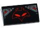 Part No: 88930pb053  Name: Slope, Curved 2 x 4 x 2/3 No Studs with Bottom Tubes with Red Manta Head and Armor Plates Pattern (Sticker) - Set 76027