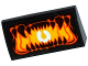 Part No: 88930pb071  Name: Slope, Curved 2 x 4 x 2/3 No Studs with Bottom Tubes with Open Mouth with Pointed Teeth and Bright Light Orange Uvula Pattern (Sticker) - Set 70316