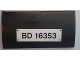Part No: 88930pb079  Name: Slope, Curved 2 x 4 x 2/3 No Studs with Bottom Tubes with Black 'BD 16353' License Plate Pattern (Sticker) - Set 79116