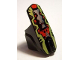 Part No: 90638pb02  Name: Hero Factory Armor with Ball Joint Socket - Size 6 with Lime, Red and Silver Pattern (Scorpio)