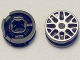 Part No: 93595pb02  Name: Wheel 11mm D. x 6mm with 8 'Y' Spokes with Silver Outline Pattern