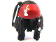 Part No: 95221pb01  Name: Minifig, Hair Dreadlocks with Beads and Dark Red Bandana Pattern