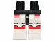 Part No: 970c01pb25  Name: Hips and White Legs with Red SW Shock Trooper Armor Pattern