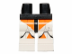 Part No: 970c01pb29  Name: Hips and White Legs with SW Clone Trooper and Orange Small Markings Pattern