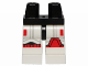 Part No: 970c01pb38  Name: Hips and White Legs with SW Stormtrooper Black, Gray and Red Markings Pattern