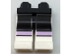Part No: 970c01pb41  Name: Hips and White Legs with Black Thighs and Lavender Knee Stripes Pattern