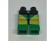 Part No: 970c06pb01  Name: Hips and Green Legs with Yellow Rectangle and Triangle Pattern