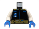 Part No: 973p61c01  Name: Torso Space Ice Planet Gold Pattern / White Arms / Blue Hands