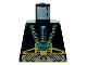 Part No: 973pb0020  Name: Torso Aquazone Aquaraider Gold & Silver Straps, Control Box Pattern
