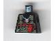 Part No: 973pb0053  Name: Torso Alpha Team Logo on Necklace, Dark Gray Vest, Tools Pattern