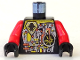 Part No: 973pb0078c01  Name: Torso Space UFO Circuitry with Red Lever Pattern / Red Arms / Black Hands
