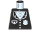 Part No: 973pb0091  Name: Torso Police Suit with White Badge and Pocket Pattern
