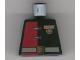 Part No: 973pb0108  Name: Torso Alpha Team Minion Commander Red/Black Shirt w/ Medal Pattern