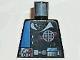 Part No: 973pb0220  Name: Torso Alpha Team Logo, Utility Belt w/ Gauge, Solid Blue Stripe Pattern
