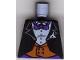 Part No: 973pb0222  Name: Torso Batman Suit with Orange Vest, Purple Bow Tie Pattern
