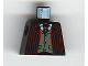 Part No: 973pb0267  Name: Torso Harry Potter Dark Red Stripe Suit Front, Gray Vest and Tie, Gold Fob Pattern
