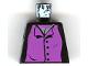 Part No: 973pb0312  Name: Torso Harry Potter Professor Snape 4 Black Buttons Pattern