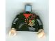 Part No: 973pb0345c01  Name: Torso Harry Potter Jacket, Red Shirt, Tatters, Hogwarts Tri-Wizard Tournament Uniform Pattern / Black Arms / Light Flesh Hands