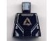 Part No: 973pb0351  Name: Torso Alpha Team Arctic Logo, Black Shirt and Silver Lines Pattern