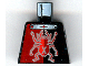 Part No: 973pb0398  Name: Torso Alpha Team Minion Scarab with Silver Outline and 'X' Pattern
