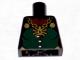 Part No: 973pb0512  Name: Torso Castle Fantasy Era Dark Green Front Panel and Gold Spider Necklace Pattern