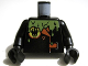 Part No: 973pb0622c01  Name: Torso Agents Villain Jacket with Orange Lapels and Buckle and Green Slime Pattern / Black Arms / Black Hands