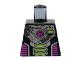 Part No: 973pb0898  Name: Torso Alien Conquest Alien Three Lime Bars Pattern