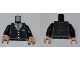 Part No: 973pb1003c01  Name: Torso Suit with 3 Buttons and Gray Tie Pattern / Black Arms / Light Flesh Hands