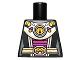 Part No: 973pb1238  Name: Torso Alien Female Shoulder Armor and Belt with UFO Pattern