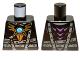 Part No: 973pb1357  Name: Torso Armor with Dark Bluish Gray Belts, Gold Raven Pendant and Dark Azure Round Jewel (Chi) Pattern