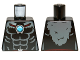 Part No: 973pb1374  Name: Torso Bare Chest with Muscles, Dark Bluish Gray Fur and Dark Azure Round Jewel (Chi) Pattern