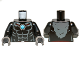 Part No: 973pb1374c01  Name: Torso Bare Chest with Muscles, Dark Bluish Gray Fur and Dark Azure Round Jewel (Chi) Pattern / Black Arms / Dark Bluish Gray Hands