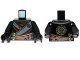 Part No: 973pb1572c01  Name: Torso Ninjago Robe with Gold Buckles and Earth Power Emblem Pattern / Black Arms / Black Hands