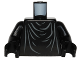 Part No: 973pb1827c01  Name: Torso SW Imperial Robe with Gray Creases Pattern (Shadow Guard) / Black Arms / Black Hands