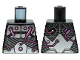 Part No: 973pb1835  Name: Torso Armor with Silver Metal Plates and Dark Pink Electrical Wires and Buttons Pattern