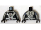 Part No: 973pb1857c01  Name: Torso Black and Silver Armor Plating with 2 Red Circles Pattern (Cyborg) / Flat Silver Arms / Black Hands