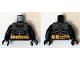 Part No: 973pb1883c01  Name: Torso Batman Logo with Body Armor Gray and Gold Belt Pattern (Comic Con) / Black Arms / Black Hands