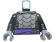 Part No: 973pb1962c01  Name: Torso Armor with Dark Purple Belt with Silver Clasp, Dark Bluish Gray Trim Pattern / Black Arms / Dark Bluish Gray Hands