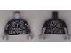 Part No: 973pb1986c01  Name: Torso Ninjago Silver Breastplate, Belt and Circle Emblem on Reverse Pattern / Black Arms / Dark Bluish Gray Hands