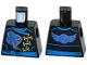 Part No: 973pb2351  Name: Torso Ninjago Robe with Gold Clasps, Jay Power Symbol, Blue Sash and Emblem and Wings on Back Pattern