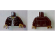 Part No: 973pb2433c01  Name: Torso Ghostbusters Leather Jacket over White Open Shirt and Dark Tan Neck Pattern (Zombie Driver) / Black Arms / Dark Tan Hands