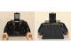 Part No: 973pb2957c01  Name: Torso Coat with Brown Zig-Zag Design Lapels, Black Shirt and Brown Belt Pattern / Black Arms / Light Flesh Hands